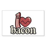 I Heart Bacon Sticker (Rectangle 10 pk)