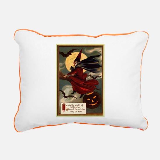 witches may be seen Rectangular Canvas Pillow