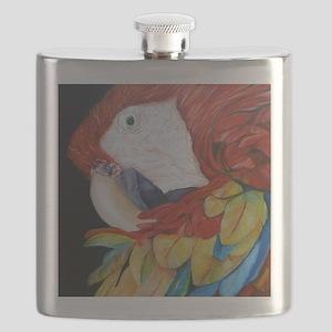3-Scarlet Macaw Flask