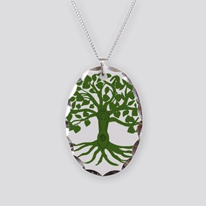 tree of life Necklace Oval Charm