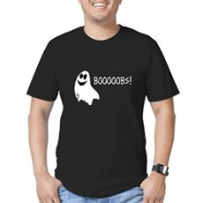 Booooobs Men's Fitted T-Shirt (dark)