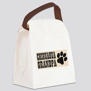Chihuahua Grandpa Canvas Lunch Bag