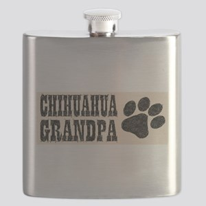 Chihuahua Grandpa Flask