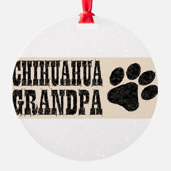 Chihuahua Grandpa Ornament