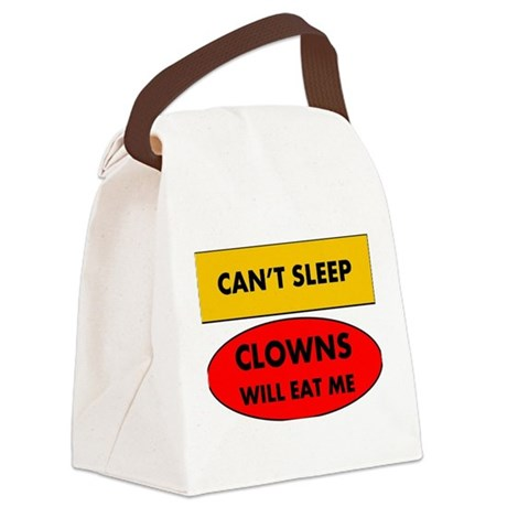 Can't Sleep Clowns Will Eat Me Canvas Lunch Bag