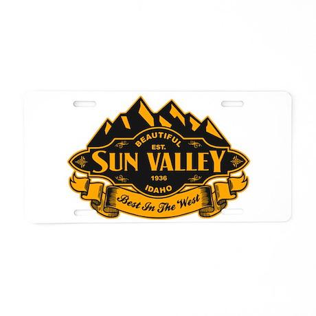 Sun Valley Mountain Emblem Aluminum License Plate