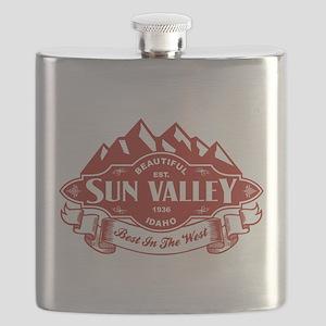 Sun Valley Mountain Emblem Flask