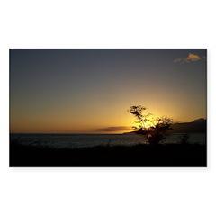 Maui Sunset Sticker (Rectangle 10 pk)