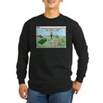 Snoring or Earthquake Long Sleeve Dark T-Shirt