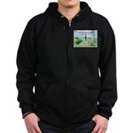 Snoring or Earthquake Zip Hoodie (dark)