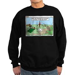 Snoring or Earthquake Sweatshirt (dark)