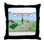 Snoring or Earthquake Throw Pillow