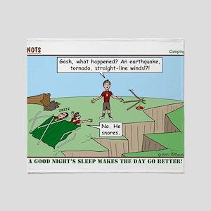 Snoring or Earthquake Throw Blanket
