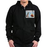 Dog Care Zip Hoodie (dark)