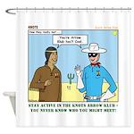 Arrow Club Shower Curtain