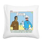Arrow Club Square Canvas Pillow