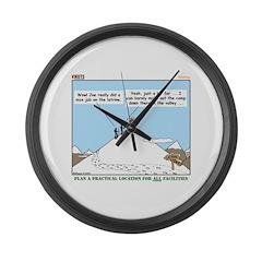Latrine Location Large Wall Clock