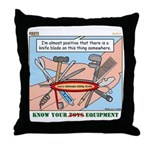 Utility Knife Throw Pillow