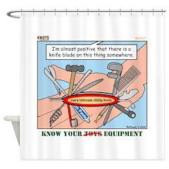 Utility Knife Shower Curtain