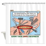 Utility Knife Shower Curtain