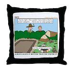 Clean Campsite Throw Pillow