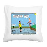 Safe Swim Square Canvas Pillow