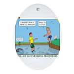 Safe Swim Ornament (Oval)