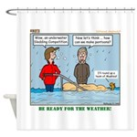 Winter Campout Shower Curtain