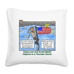 Thunderstorm Square Canvas Pillow
