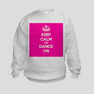 Keep Calm and Dance On Kids Sweatshirt
