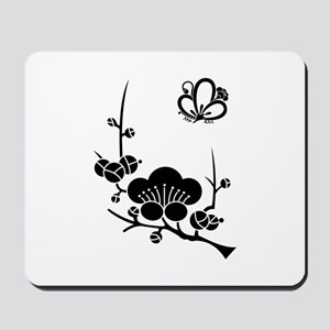ume blossoms and butterfly Mousepad