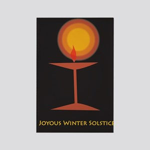 UU Winter Solstice Rectangle Magnet
