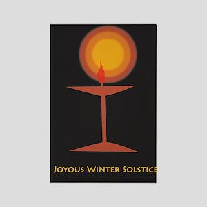 UU Winter Solstice Rectangle Magnet