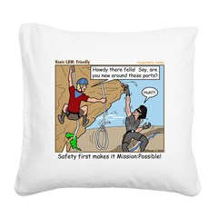Friendly Square Canvas Pillow