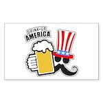 Drink Up America Sticker (Rectangle 10 pk)