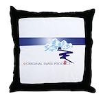 Swiss Mountain Throw Pillow