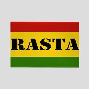 Rasta Reggae Colours Rectangle Magnet