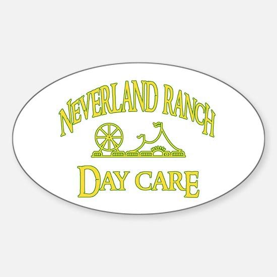 Neverland DayCare Oval Decal