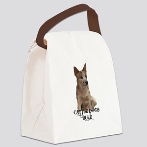 Cattle Dogs Rule Canvas Lunch Bag