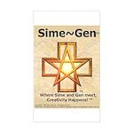 Sime~Gen Rectangle Sticker