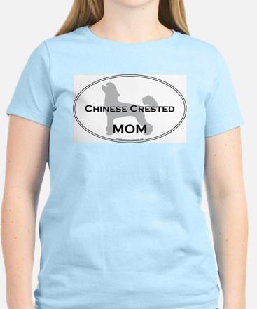 Chinese Crested MOM Women's Pink T-Shirt