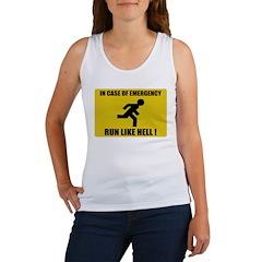 In case of emergency, run like hell Women's Tank T