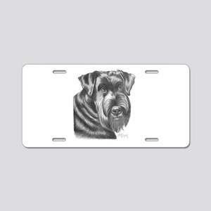 Giant Schnauzer Aluminum License Plate