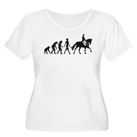 horse riding Women's Plus Size Scoop Neck T-Shirt
