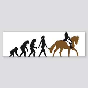 evolution horse riding Sticker (Bumper)