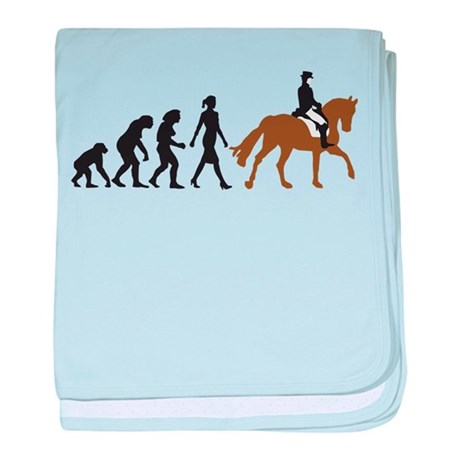 evolution horse riding baby blanket