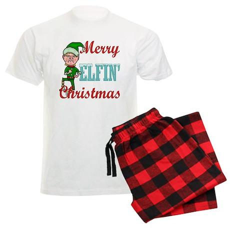 Funny Elfin Christmas Men's Light Pajamas