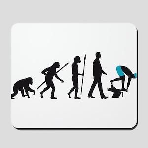 evolution swimmer on startblock Mousepad