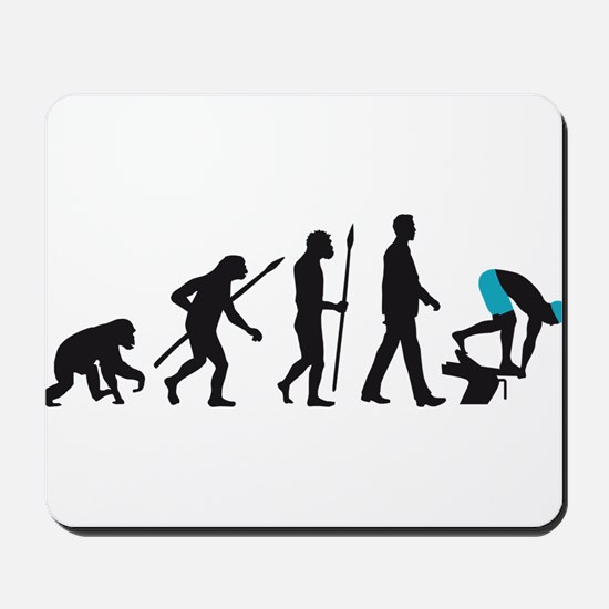 evolution swimmer on startblock Mousepad