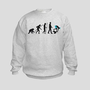 evolution swimmer on startblock Kids Sweatshirt